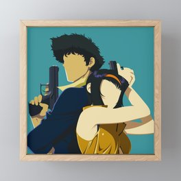 Cowboy Bebop Minimalistic Anime Art Framed Mini Art Print