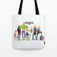 band Tote Bags featuring Band by Andres Moncayo