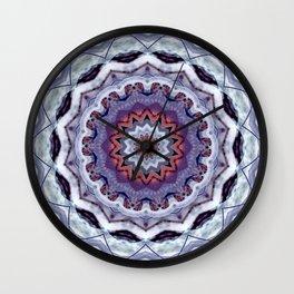 Lavender Stone Mandala Wall Clock