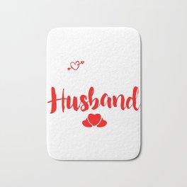 I Love My Crazy Husband Couples Cupids Valentinus Valentines Day Gift Bath Mat