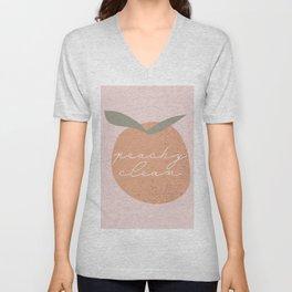 Peachy Clean Peach Unisex V-Neck