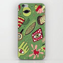 1980's Memphis Style, Dark Green iPhone Skin