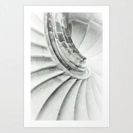 Sand stone spiral staircase 009 Art Print