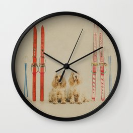 Skiing is believing Wall Clock