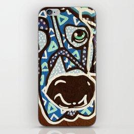 Bobby Blue Eyes Designer Dog Series Puppy Pet Weimaraner Weimer Pointer Ghost Ridgeback Vizsla Hound iPhone Skin