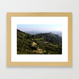 Trails at Griffith Framed Art Print