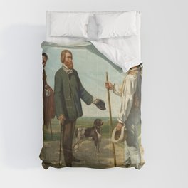 "Gustave Courbet ""Bonjour, Monsieur Courbet"" Comforters"