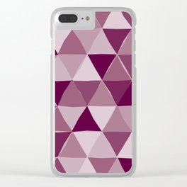 Purple Triangles Clear iPhone Case