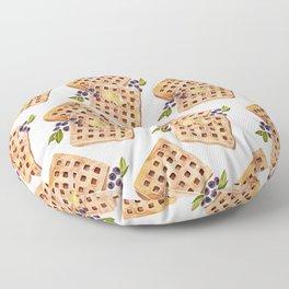 Blueberry Breakfast Waffles Floor Pillow