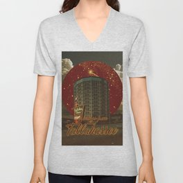 greetings from tallahassee Unisex V-Neck