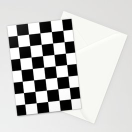 Black & White Checkered Pattern Stationery Cards