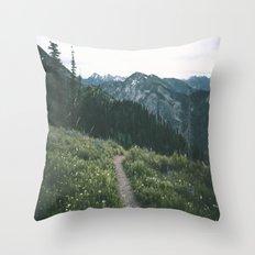 Happy Trails III Throw Pillow