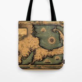 Historical Map of Cape Cod Tote Bag