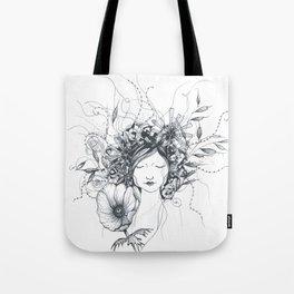 Winter Poppy Fairy Tote Bag