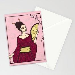 Geisha Japanese Artists Stationery Cards