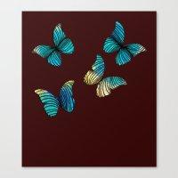butterflies Canvas Prints featuring Butterflies by Brontosaurus