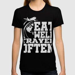 Essen Reisen Abenteurer Geschenk T-shirt