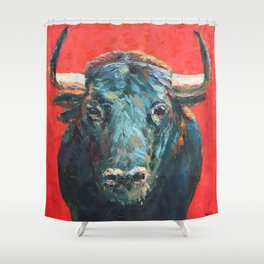 The Bull Shower Curtain