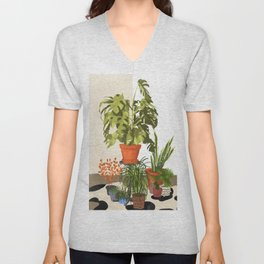 Plant Pots Unisex V-Neck