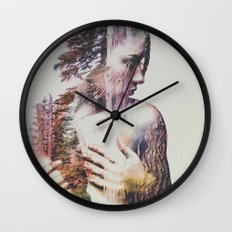 Wilderness Heart III Wall Clock