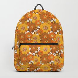 Pushing disies Orange and brown Backpack