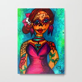 Lady Day of the Dead Metal Print