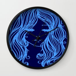 Blue Girl Wall Clock