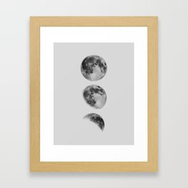 Moon Phase Wall Art Moon Home Decor Moon Phases Nursery Decor Poster Minimalist Print Gothic Boho Framed Art Print