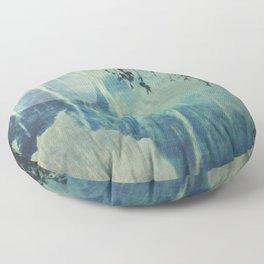 dreaming under the birch Floor Pillow