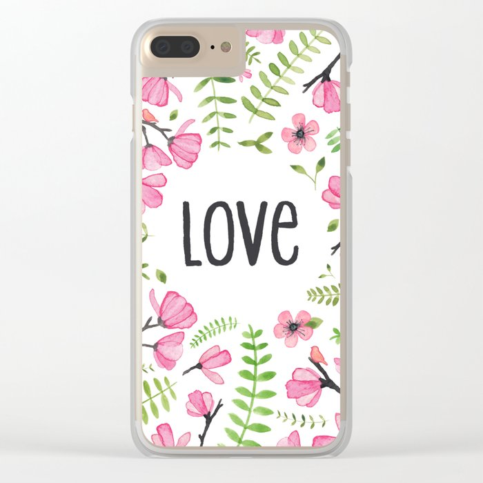 Love Clear iPhone Case