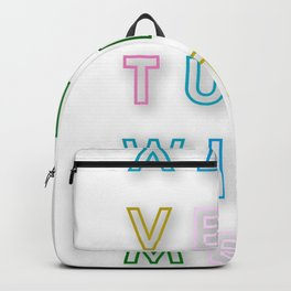 AD VEN TURE WITH ME. Backpack