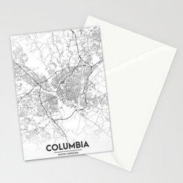 Minimal City Maps - Map Of Columbia, South Carolina, United States Stationery Cards