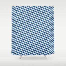 Sharkstooth Sharks Pattern Repeat in White and Blue Shower Curtain