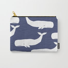 Whale Blue Waves Carry-All Pouch