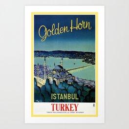 Golden Horn Istanbul Art Print
