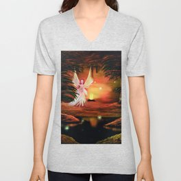 Wings to a flame Unisex V-Neck