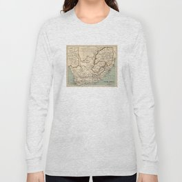 Vintage Map of South Africa (1889) Long Sleeve T-shirt