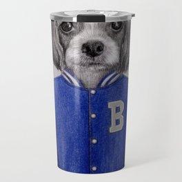 dog boy portrait Travel Mug