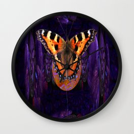 Butterfly Source Power Wall Clock