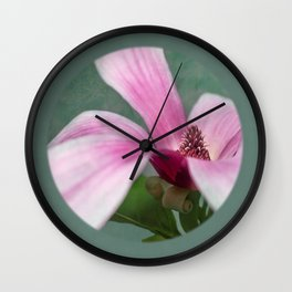 magnolia in the limelight Wall Clock