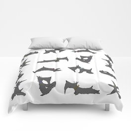 scottie yoga pose artwork Comforters