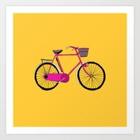 bicycle Art Prints featuring Bicycle  by bluebutton studio