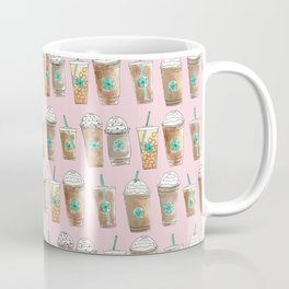Coffee Cup Line Up in Pink Berry Coffee Mug