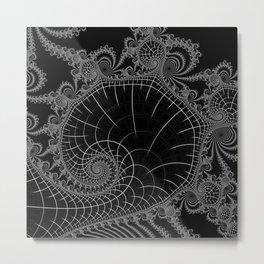 Peaks Inverted Metal Print