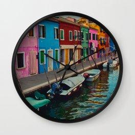 Burano Island II Wall Clock