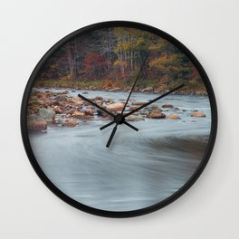 Gold River Fall Colours Wall Clock