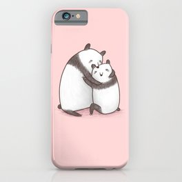 Panda Cuddle iPhone Case