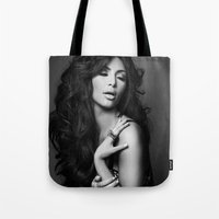 kardashian Tote Bags featuring Kim Kardashian West by I Love Decor