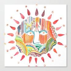 Sun Doodle Canvas Print