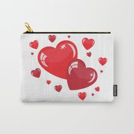 Red Hearts Carry-All Pouch